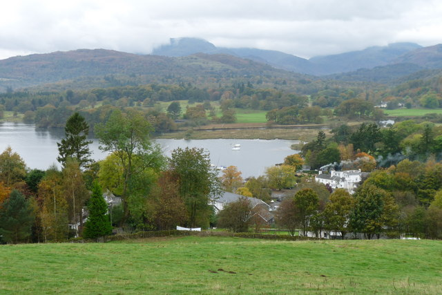 View Over Waterhead  Ambleside  U00a9 Peter Trimming