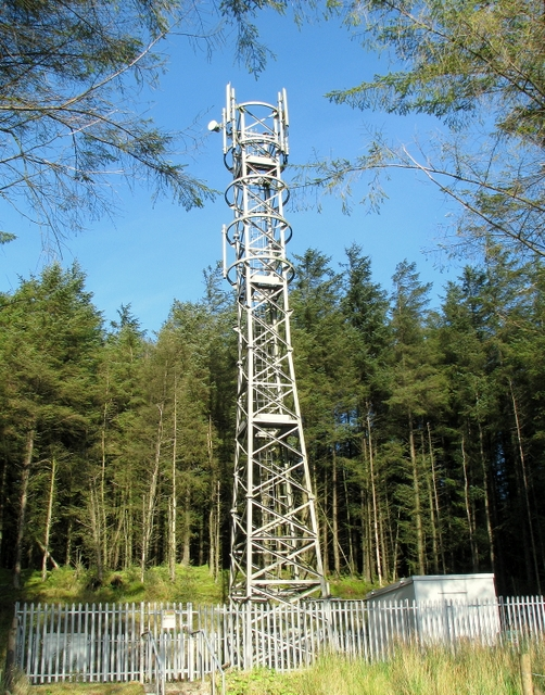Mobile phone mast near Glenariff