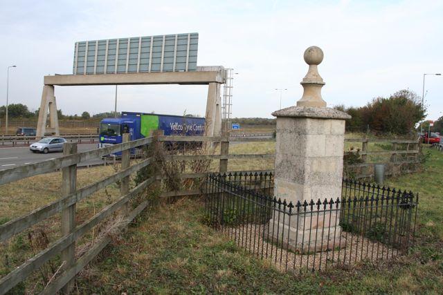 The Mile Stone at Alconbury Hill