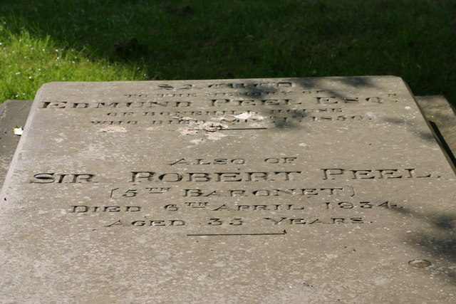Sir Robert Peel, 5th Baronets, Grave  (3)