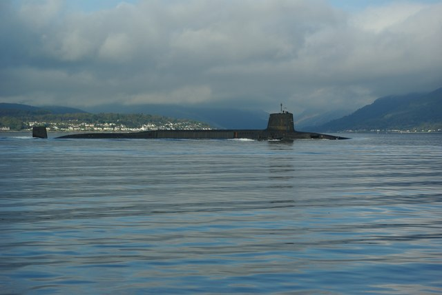 Submarine in the Firth of Clyde