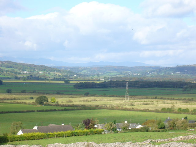 Lyth Valley & Langdale Pikes from Levens