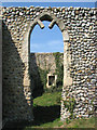 TG3928 : All Saints church - the ruined chancel by Evelyn Simak