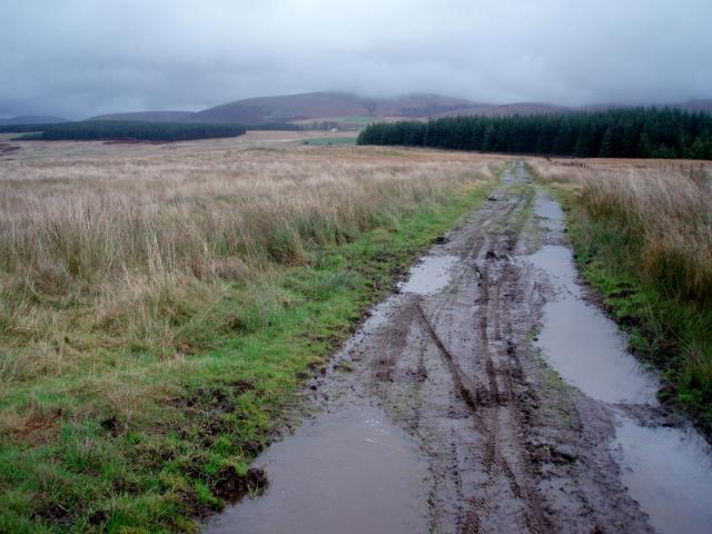 Muddy track, Auchentaggart Moor