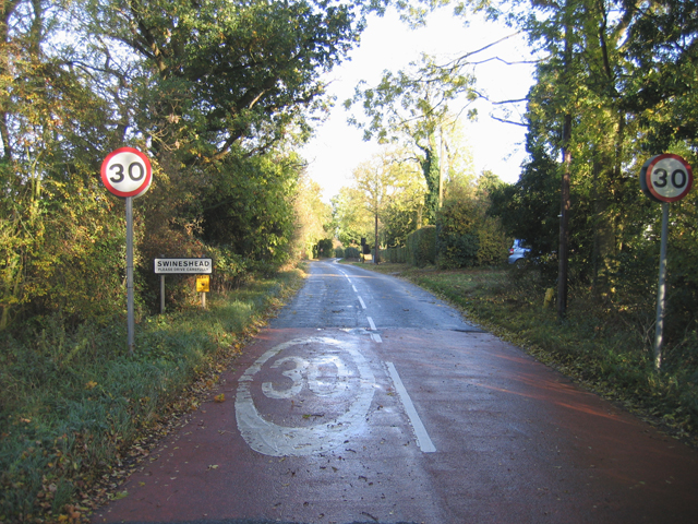 Entering Swineshead, Beds
