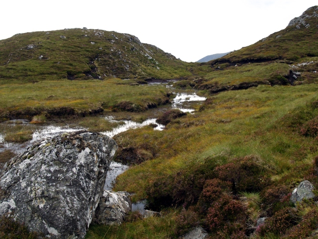 Boggy col, SW ridge of Garbh-charn