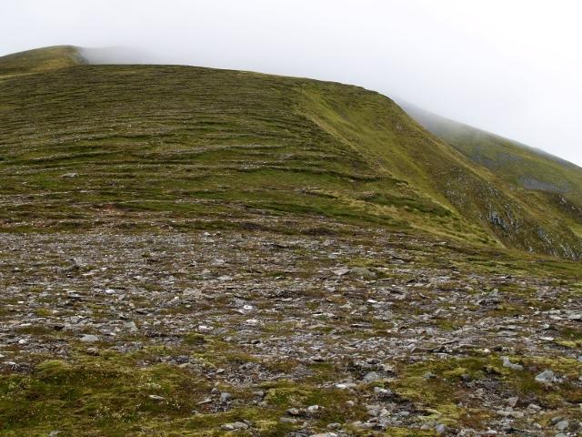 Rock terraces,  SE ridge, Sgurr a' Choire Ghlais