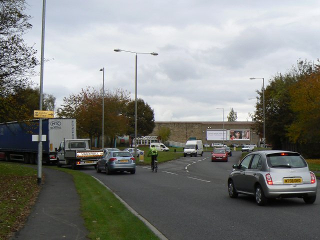 Traffic at the roundabout