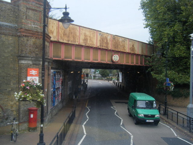 Railway Bridge at Wandsworth Town Station.