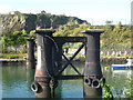 SX4952 : Old bridge piers at the entrance to Hooe Lake by Rod Allday