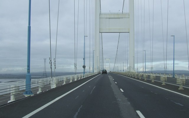 Crossing the Severn bridge