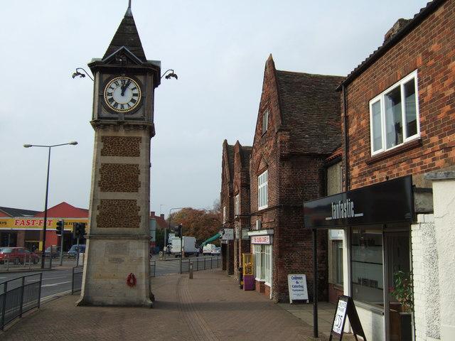 Gaywood clock near Kings Lynn