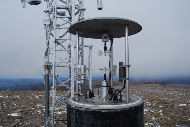 Cairngorm radio mast and weather station.