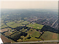 TQ7789 : Aerial view of Woodside cemetery and New Thundersley by Edward Clack