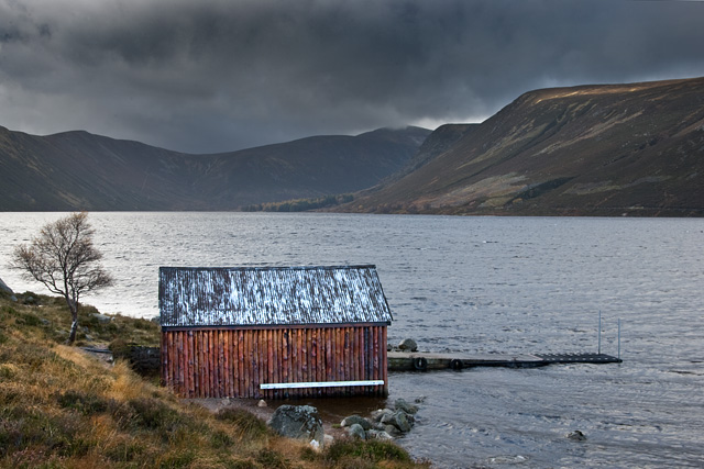 Boathouse on Loch Muick