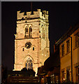 SP4871 : St Peter's Church floodlit, Dunchurch : Week 44