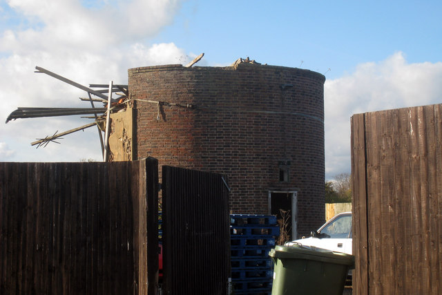 Derelict Oast at Tong Farm, Marle Place Road, Brenchley, Kent