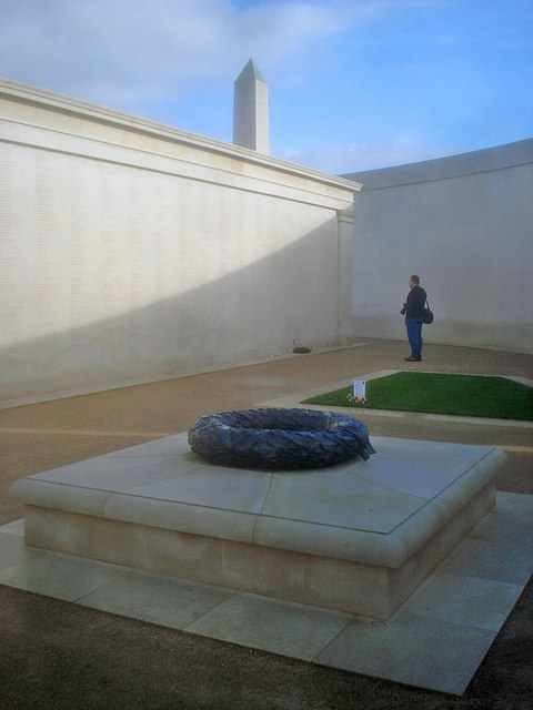 Names plinth at the Armed Forces Memorial