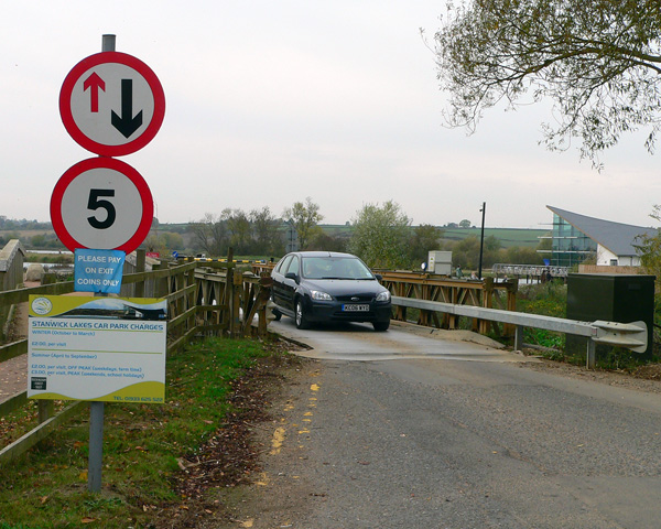 Entrance to Stanwick Lakes