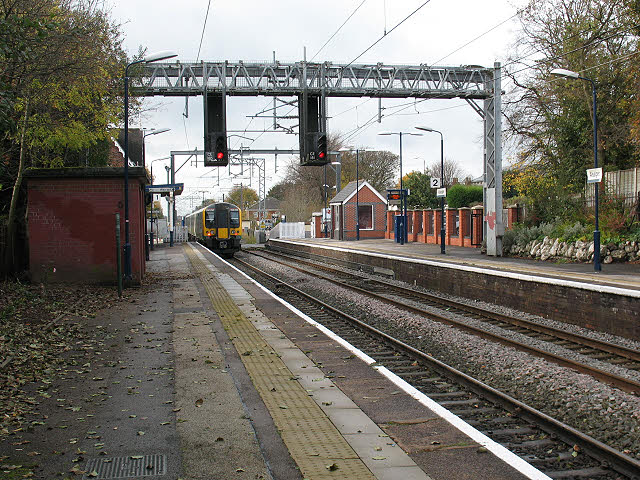 Alsager station platforms