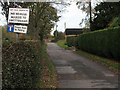SJ7965 : SatNav warning near Swettenham by Stephen Craven