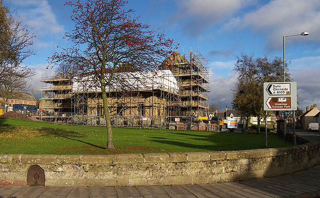 Renovation work at Greenlaw Town Hall