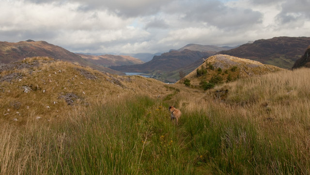 The track above Caisteal Grugaig