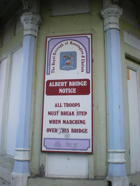 Albert Bridge, Sign