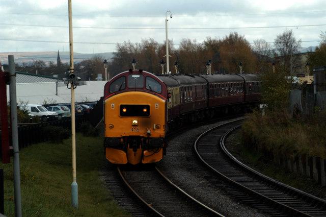 Departing Heywood station