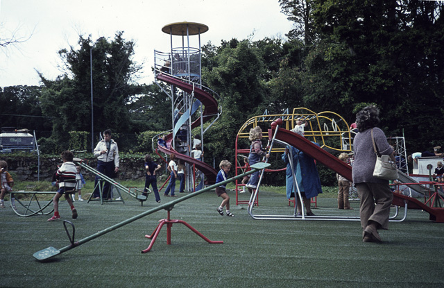 Children's playground in Lelant in the late seventies