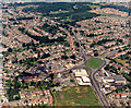 TQ8087 : Aerial photo of Victoria House Corner, Hadleigh, wide view by Edward Clack