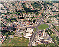 TQ8087 : Aerial photo of Victoria House Corner, Hadleigh, close  view by Edward Clack