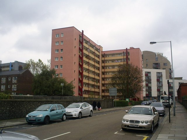 Rear of Eskdale Flats from Granby Terrace