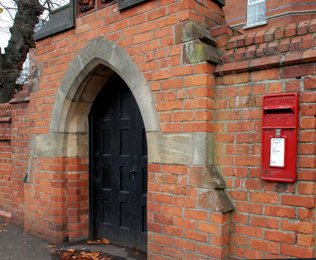 Letter box and door, Belfast