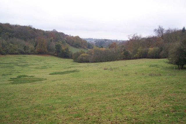 View of Pratt's Bottom in the valley