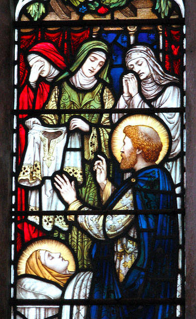 St Andrew's church - lady chapel east window (detail)
