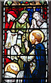 TM0381 : St Andrew's church - lady chapel east window (detail) by Evelyn Simak