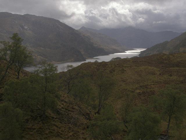 Short sunny spell over Loch Hourn