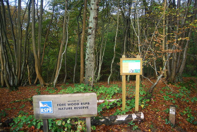 Signs, Fore Wood RSPB Nature Reserve