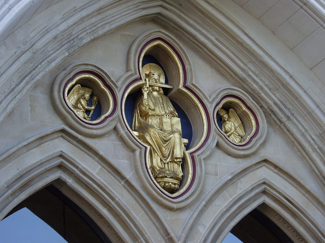 Above the West door - Chichester Cathedral