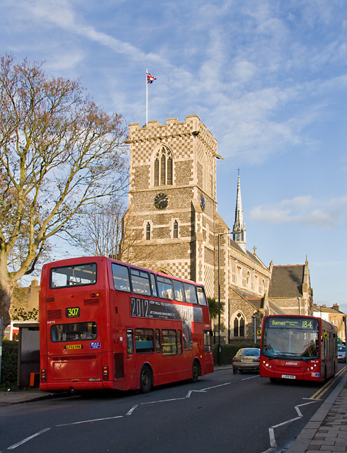 Buses and St. John The Baptist