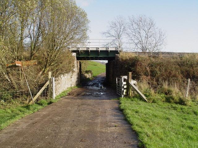 Railway bridge over footpath