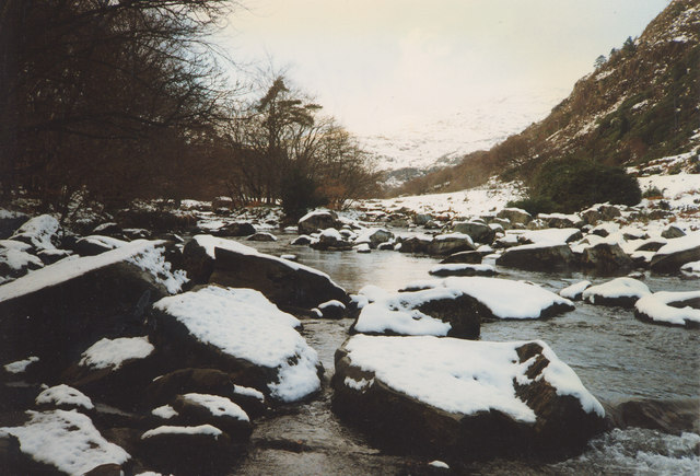 Afon Glaslyn after snow