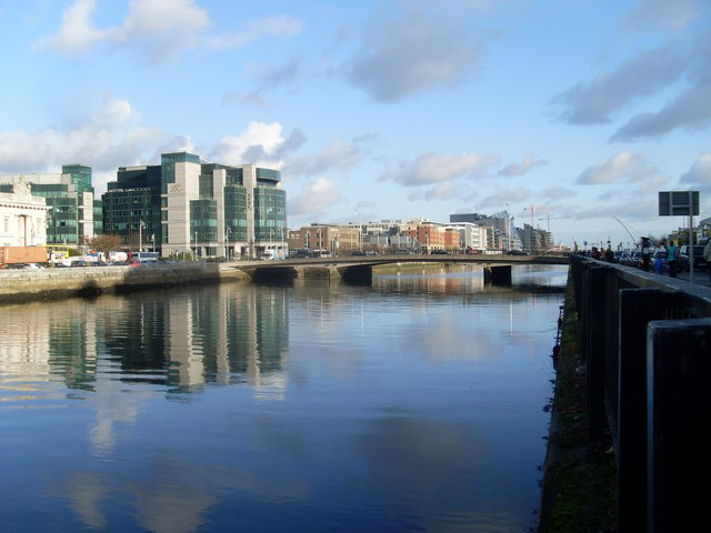 View east along the Liffey