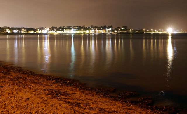 Ballyholme Bay at night