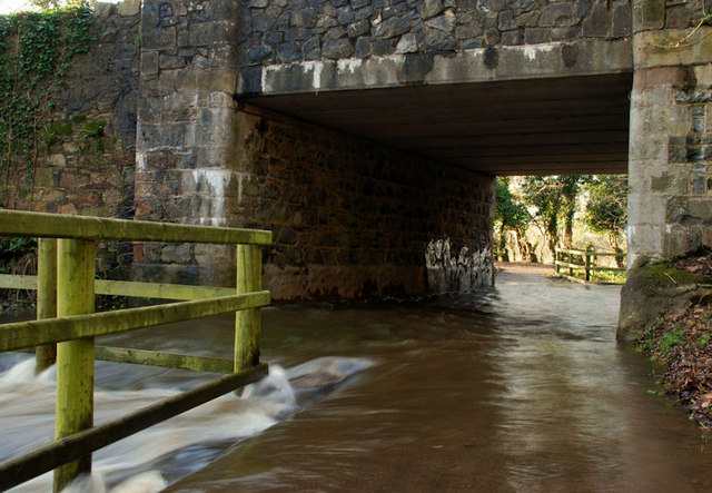 Flooding at the Drum Bridge, Dunmurry (2)