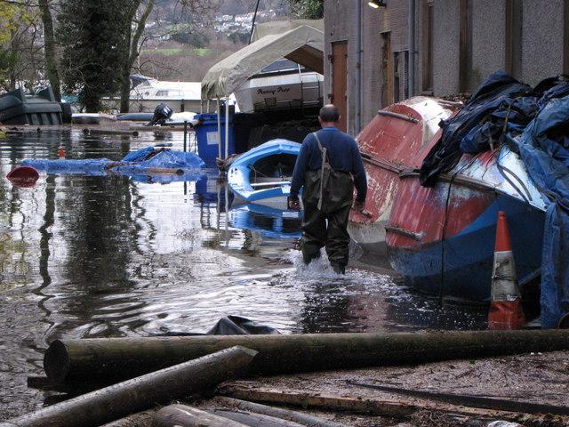 Nichol End Derwentwater - Flooding and Damage