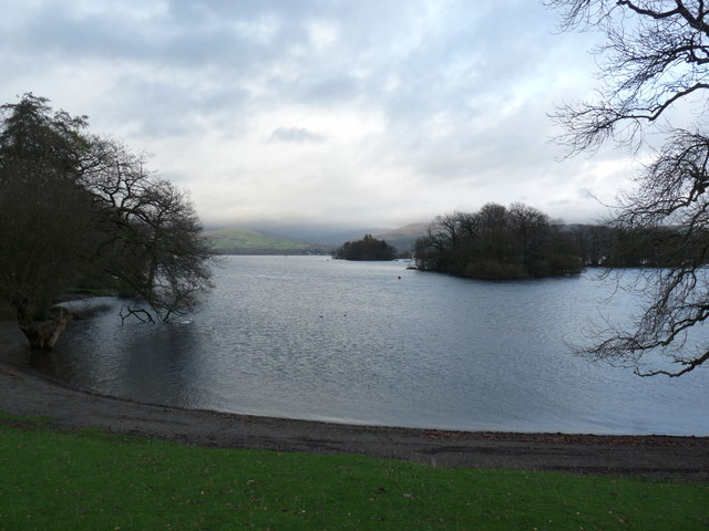 View to islets from Western edge of Windermere