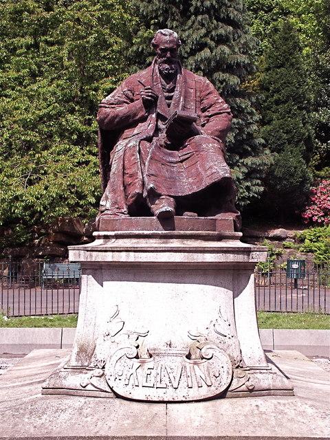 Bronze statue of Lord Kelvin in Kelvinside, Glasgow