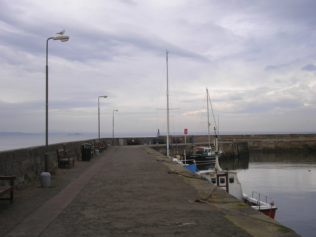 Western breakwater at Musselburgh Harbour